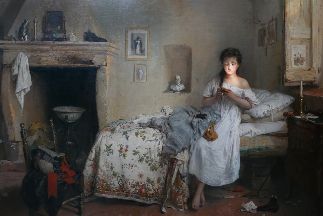 woman in her pajamas_